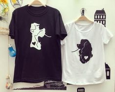 Camisetas la Dama y el Vagabundo Cute Couple Shirts, Disney Couple Shirts, Matching Disney Shirts, Couple Tees, Matching Couple Outfits, Matching Couples, Cool Shirts, T Shirt Couple, Travel Shirts