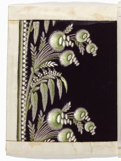 Embroidery Sample, late 18th–early 19th century