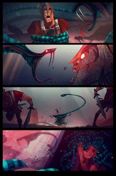 prequel 11 Medusa Story, Anime Comics, Web Comics, Comics Story, Comic Manga, Comic Art, Medusa Comics, Hades And Persephone, Hades Y Perséfone