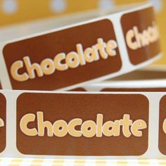Chocolate Bakery Labels Fudge Shop, Opening A Bakery, Chocolate Desserts, Chocolate Chocolate, Baking Business, Bakery Logo, Yummy Food, Tasty, Coffee Shop
