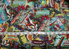 Marvel Comics Comic Book Covers Fabric  1/2 yard by ChaneyLakeGirl