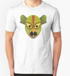 «Ethnic devil bird mask» de TIERRAdesigner camiseta unisex tee shirt