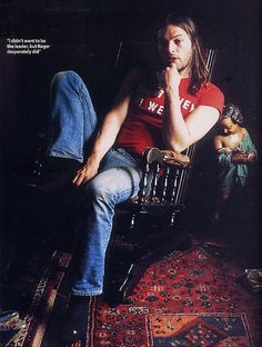 David Gilmour from unknown magazine