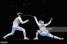 Hyunhee Nam of Korea and Shiho Nishioka of Japan compete during the... News Photo | Getty Images