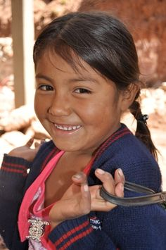 Cute school girl from Cochabamba, Bolivia.