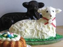 Easter Lamb Cake, a beloved Eastern European Easter dessert. You need a special cake mold to make it but they are inexpensive and can be found on sites like Amazon for upwards of 20 dollars.
