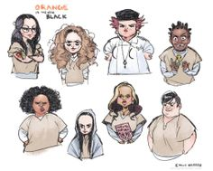Awesome #OITNB caricatures from season 1