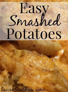 "This quick and easy side dish is a new favorite of ours! You can easily customize it to personal tastes too. And yes, it's ""smashed"" potatoes, not mashed!"
