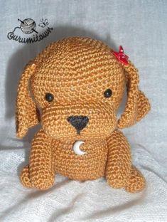 """""""amigurumi cachorro cocker  hilo de algodón 100%,fibra,cuentas crochet,amigurumi"""" #Amigurumi  #crochet"""