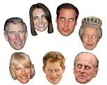 Royal Family Card Masks - Pack of 7