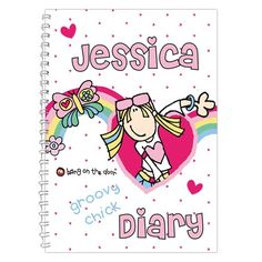 Personalised Bang on the Door Groovy Chick Diary  from Personalised Gifts Shop - ONLY £8.99