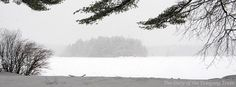 A winter view of Phillips Island from the Ashaway Aquatics Center at Camp ‪#‎Yawgoog‬.  Image by David R. Brierley.
