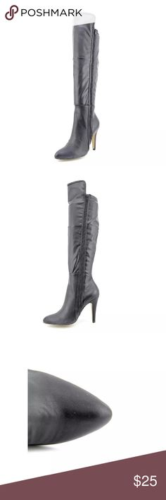 """New Mia Anastasia Black Knee High Boots New without box.                             MiaAnastasia.  Synthetic Shaft measures 13"""",  Circumference measures 12"""" and  4"""" heel.                                                  List Price $89  SIZE 7  WIDTH:Medium (B, M) Mia Anastasia  Shoes Over the Knee Boots"""