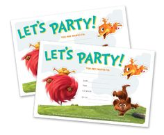 HP | HP Creative Studio - Dr. Seuss' The LORAX Party Invitations free printable