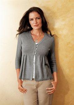 Cardigan in grau, 35 euro, leider in scharz, dunkelblau und allen anderen Farben nicht lieferbar, grau nicht in größe l