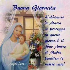 Italian Memes, Good Morning Quotes, Angelo, Madonna, Christmas, Buen Dia, Good Night, Faith, Xmas
