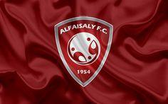 Download wallpapers Al-Faisaly FC, 4K, Saudi Football Club, logo, emblem, Saudi Professional League, football, Harma, Saudi Arabia, silk texture