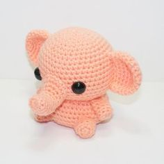 Little crochet elephant by Heartstringcroche… on (Inspiration). Little crochet elephant by Heartstringcroche… on (Inspiration). Crochet Elephant Pattern, Crochet Amigurumi Free Patterns, Crochet Animal Patterns, Stuffed Animal Patterns, Crochet Dolls, Crochet Stuffed Animals, Easy Crochet Animals, Crochet Kawaii, Cute Crochet