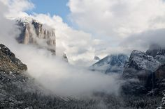 El Capitan in the Fog in Yosemite  ~ photo from Kathy~'s flickr stream