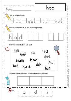 word teachers  an   sight Literacy  on Worksheets Kids teachers pay  Kindergarten Worksheets, Pinterest worksheets