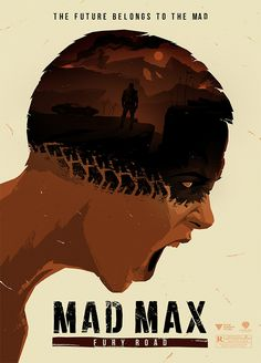Levente Szabo has created this impactful 'Mad Max Fury Road' poster. We are all massive fans of the film. Mad Max Fury Road, Best Movie Posters, Minimal Movie Posters, Movie Poster Art, Films Cinema, Cinema Posters, Film Posters, Award Poster, Kunst Poster