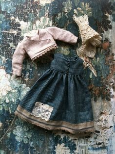 :: Crafty :: Doll :: Clothes :: Gretel Outfit set for Blythe-Faded Indigo