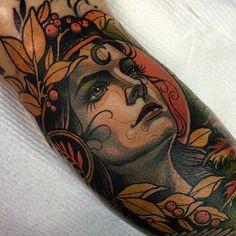 Neo Traditional Tattoo Artists in Australia Great Tattoos, Beautiful Tattoos, Life Tattoos, Body Art Tattoos, Tatoos, Color Tattoos, Portrait Tattoos, Neo Traditional Art, Traditional Tattoos