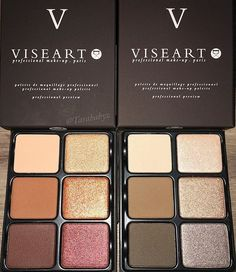Viseart Theory Palettes in Cashmere (r) and Minx (L) #visearttheorypalette #viseartcashmere#viseartminx #chromaontheway @viseart