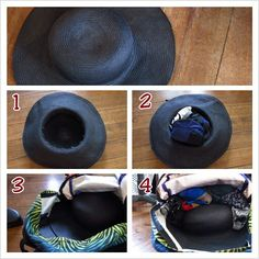 packing a hat in your backpack ;) #packing #tips #travel