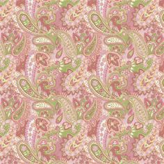 Fabric for my baby's crib blanket.  Love the paisley print with the pink and greens.  Thinking of using a stripped fabric for the bed skirt to go with this!