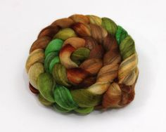 Mixed BFL Wool Roving  Hand Dyed Roving for by woolgatherings, $27.00