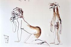 Eric Migom, Je vais me promener avec ma copine on ArtStack #eric-migom #art