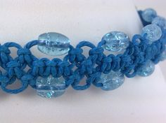 blue bracelet with cool bubble beads