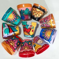 Painted Plant Pots, Painted Flower Pots, Terracotta Flower Pots, Decorated Flower Pots, Tile Art, Clay Pots, Crafts For Teens, Nespresso, Coffee Maker
