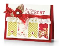 Shabby Birthday Card by Nina Brackett - supplies and instructions included