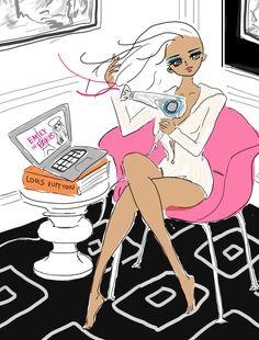 illustration by Akiko Hiramatsu Disney Characters, Fictional Characters, Paris, Disney Princess, Funny, Anime, Beauty, Fashion, Moda