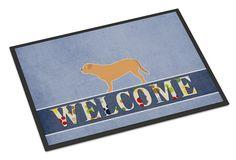Dogue de Bordeaux Welcome Indoor or Outdoor Mat 18x27 BB5574MAT