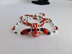 My Bloody Valentine Red Sugar Skull Dia De by DonkeyandTheUnicorn, $20.00