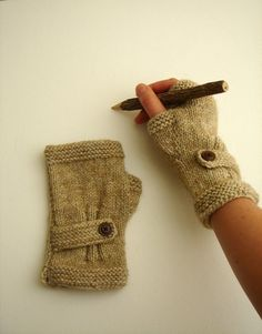 Autumn Finds/ Arm Warmer / Hand Knit Fingerless by gloveshop, $28.00