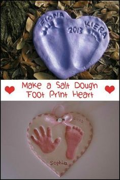 Capture those special memories with your kids by making salt dough footprint heart! Capture those special memories with your kids by making salt dough footprint heart!