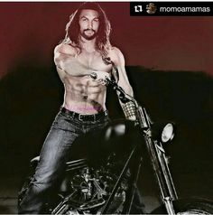 Jason Mamoa and a bike..MMM