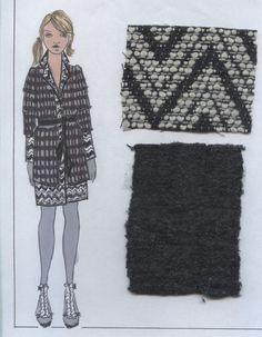 Warm mixed texture coat.