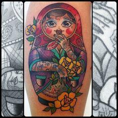 Tattooed Matryoshka by Guen Douglas