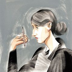 Portrait of Virginia Woolf by Ping Zhu