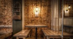 Architecture has designed the interiors of Mowgli Street Food on Bold Street Liverpool. Indian street food with a Scandinavian influenced interior. Indiana, Indian Street Food, Wood Interiors, Liverpool, Contemporary Interior, Places To Eat, Restaurant Bar, Home Kitchens, Dining Table