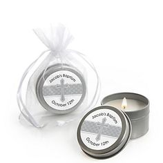 Candle Tin Personalized Baptism Favors |