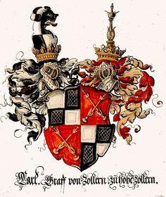 Wappen der Karl I, Graf von Zollern zu Hohenzollern / Coat of Arms of Karl I…
