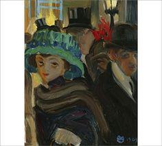 AKSELI GALLEN-KALLELA  Street Scene from Paris (1909)