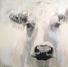 A rustic abstract cow in blue and gray farmhouse art Farmhouse Paintings, Cow Painting, Farm Art, Art Inspiration Drawing, Cow Art, Animal Paintings, Art Paintings, Paintings Of Cows, Watercolor Art