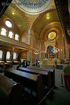 Spanish  Synagogue in Prague. Literally took my breath away with it's beauty.